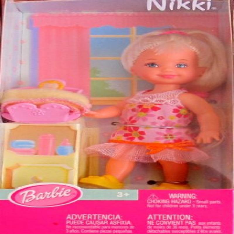 Mattel Barbie KELLY Club BABYSITTER NIKKI DOLL w Cradle (...