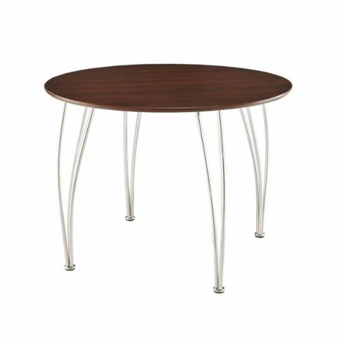 Shell Round Dining Table Top, Espresso (Box 1 of 2)