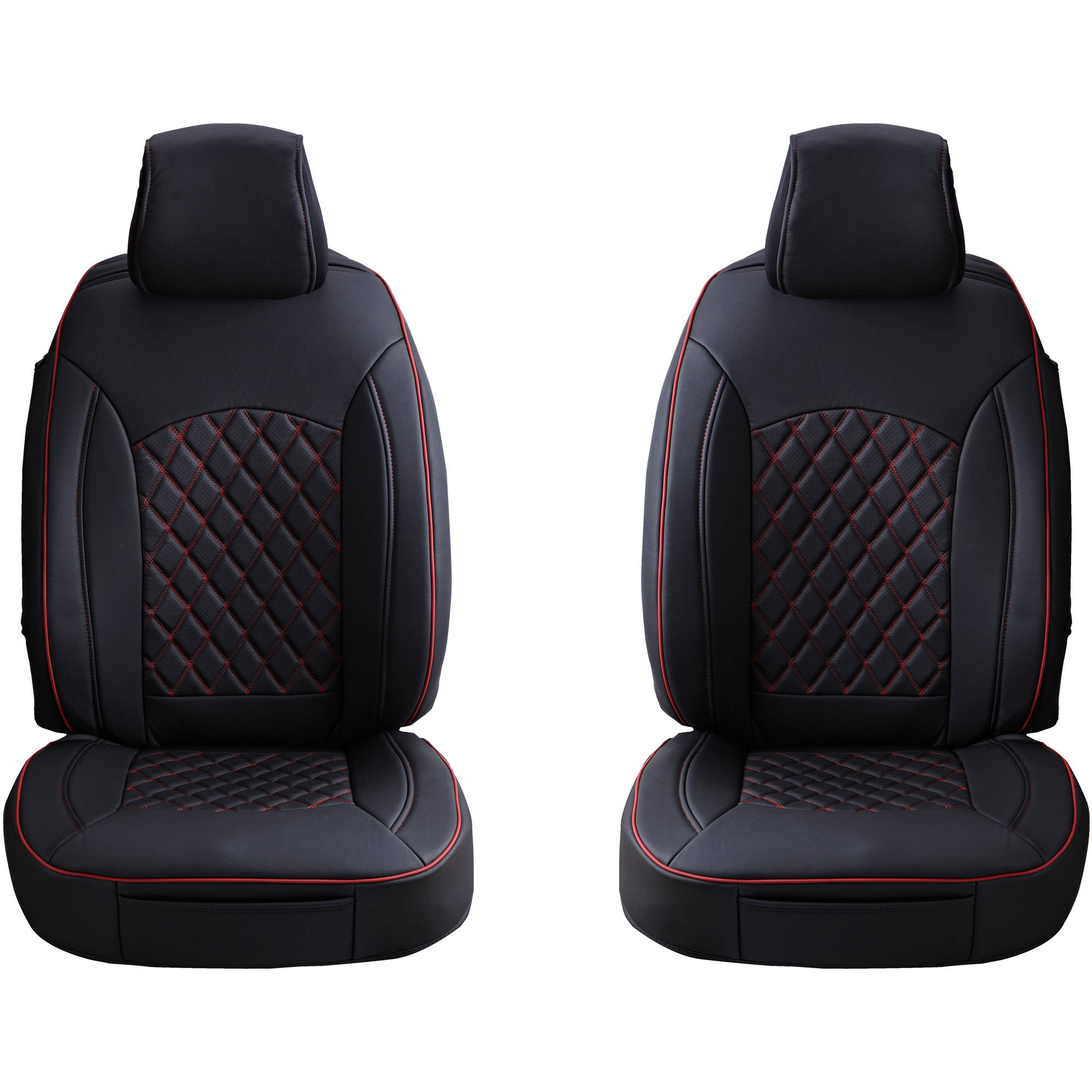 Aegis Luxurious 3D Design PU Leather Seatcover, Front Set