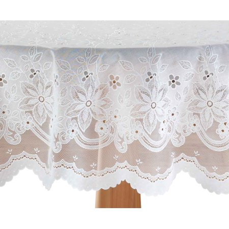 Elegant Floral Vinyl Lace Table Cover Walmart Com