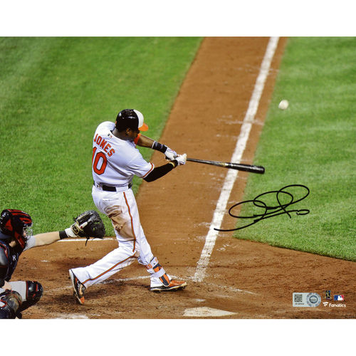 """Adam Jones Baltimore Orioles Fanatics Authentic Autographed 8"""" x 10"""" Hitting Back View Photograph - No Size"""
