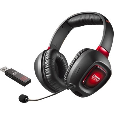 """Sound Blaster 70GH022000003 Sound Blaster Tactic3D Rage Headset - Stereo - Black, Red - USB - Wireless - RF - 32 Ohm - 20 Hz - 20 kHz - Over-the-head - Binaural - Circumaural -"