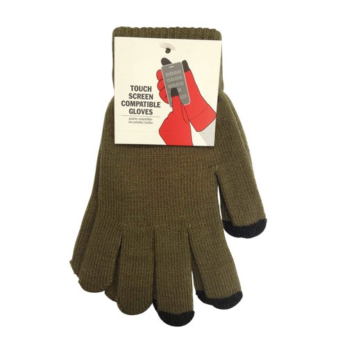 Olive Solid Tech Glove