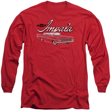 Chevy Mens  Classic Impala Long Sleeve Red