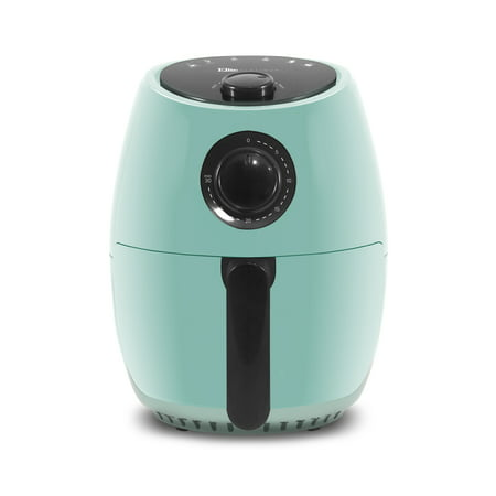 Elite Platinum EAF-8061BL Mint Blue 2.1qt Hot Air Fryer with Adjustable Timer and Temperature for Oil-free Cooking