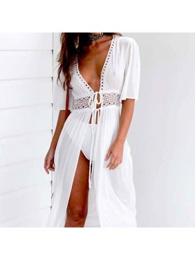Product Image Women Beach Bikini Cover up Long Kaftan dress Summer Boho Maxi Dress Swimwear Fashion