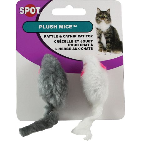 Plush Mice with Rattle & Catnip, 2 Count