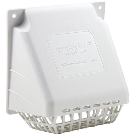 Deflecto HR4W Replacement Vent Hood (Aluminum Dryer Vent Hood)