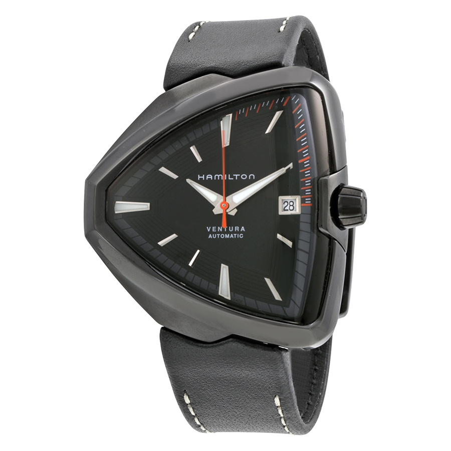 Hamilton Ventura Elvis80 Automatic Black Dial Mens Watch H24585731 by Hamilton