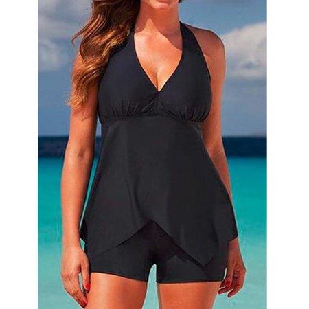 7b3bcfd024 VirtualStoreUSA.com - Tankini Swimsuit Shorts Plus Size Bikini Set ...