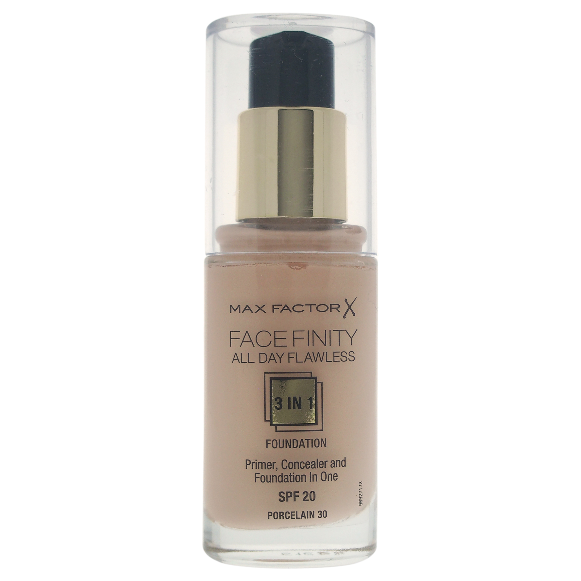 Facefinity All Day Flawless 3 In 1 Foundation SPF 20 - # 30 Porcelain by Max Factor for Women - 30 ml Foundation