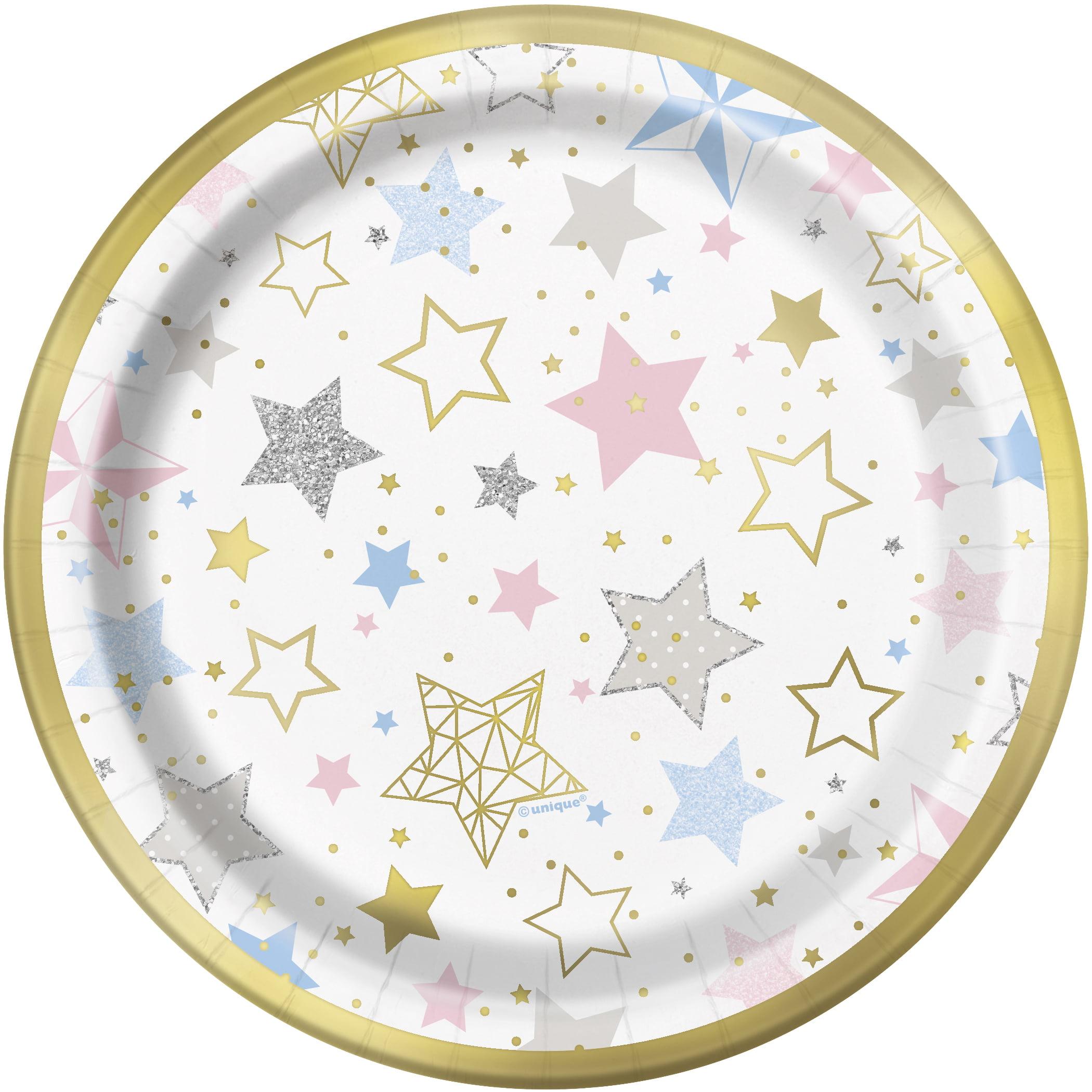 Foil Twinkle Twinkle Little Star Paper Dessert Plates, 7 in, 8ct