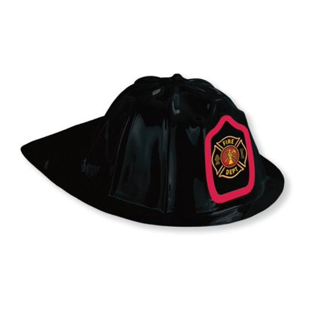 Fire Engine Party (Fire Watch Party Black Plastic Fire Hat (1)