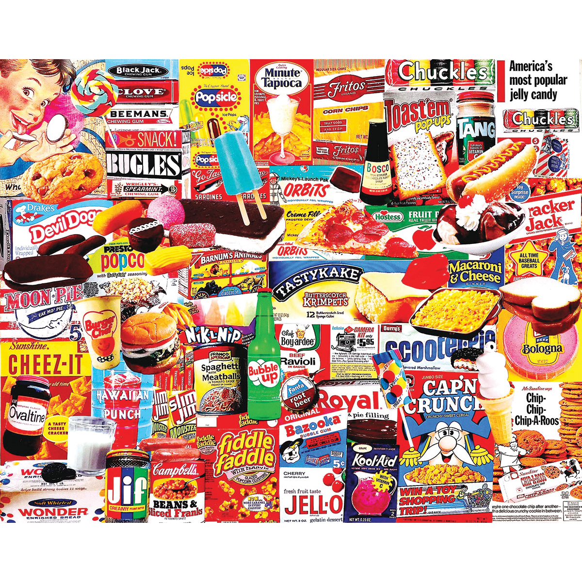 White Mountain Puzzles Things I Ate As A Kid 1000 Piece Jigsaw Puzzle by White Mountain Puzzles