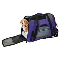 KritterWorld 19-Inch Large Soft Sided Pet Carrier Comfort Airline Approved Travel Tote Shoulder Bag for Small Dogs Cats Small Animals Tote w/ Seat Belt Buckle & Removable Fleece Bed