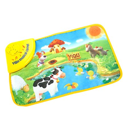 New Amusing Hot Kids Baby Zoo Animal Musical Touch Play Singing Carpet Mat Toy