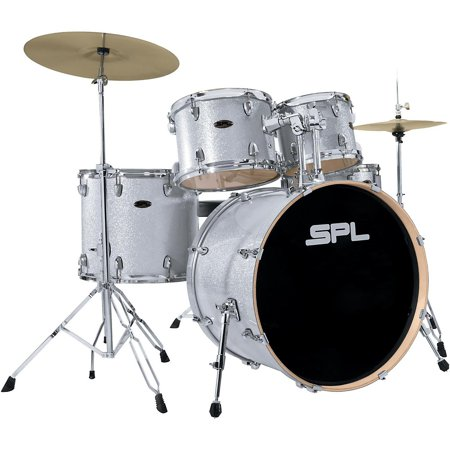 Sound Percussion Labs Unity Birch Series 5-Piece Complete Drum Set Silver Mist