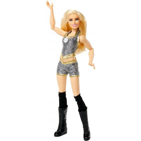WWE Superstars Charlotte Flair 12-inch Posable Doll Plus 1 - Posable Dummy