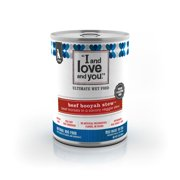 """""""I and love and you"""", Beef Booyah Stew Grain Free Canned Dog Food, 13 oz (12 pack)"""