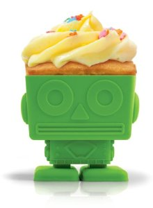 Fred Friends Yumbots Robot Cupcake Mold Multi-Colored