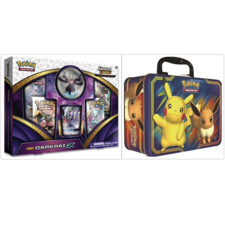Chess Tin - Pokemon Fall 2018 Pikachu and Eevee Collector Chest Tin and Shining Legends Darkrai Collection Box Bundle, 1 of Each
