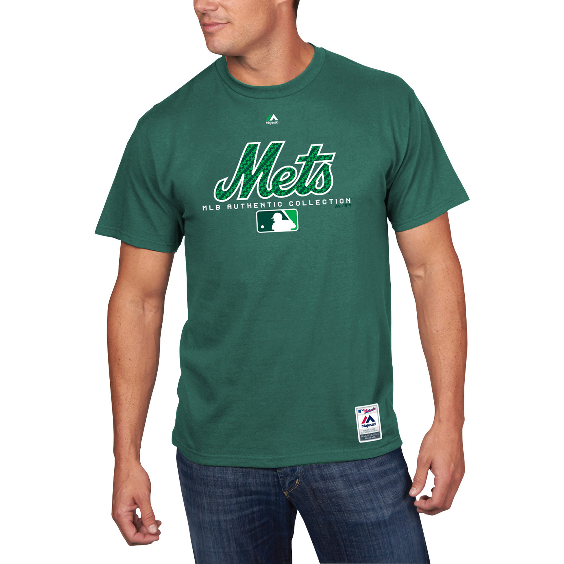New York Mets Majestic 2018 St. Patrick's Day Authentic Celtic T-Shirt - Green