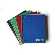 "Norcom  77316-12 7"" x 5"" Omni Single Assignment Book Assorted Colors"