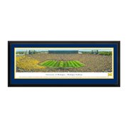 """Michigan Wolverines 18"""" x 44"""" Deluxe Frame Panorama Wall Art"""