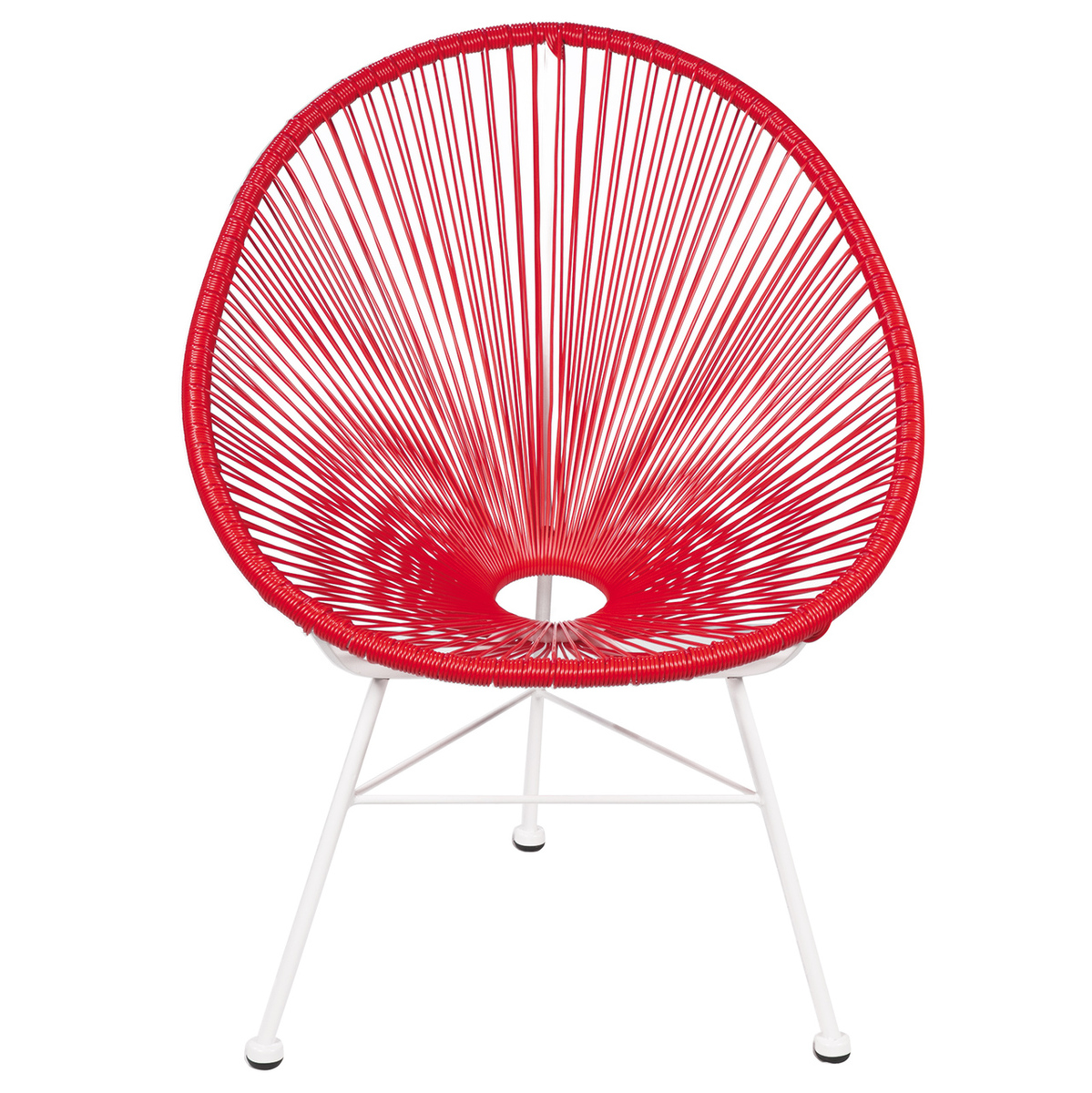 Acapulco Lounge Chair - Red on White