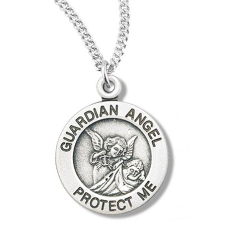 Women's Sterling Silver Guardian Angel Protect Me Necklace + 18