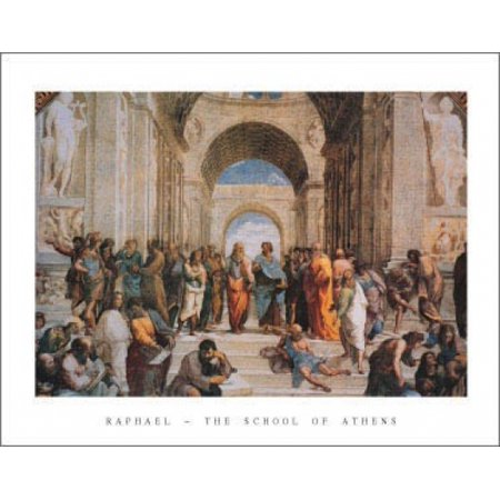 C.1511 Poster Print - The School of Athens c1511 Poster Print by Raphael (28 x 22)