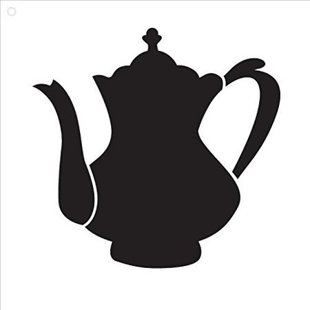 Fancy Teapot by StudioR12 | Elegant and Traditional - Reusable Mylar Template | Painting, Chalk, Mixed Media | Wall Art, DIY Home Decor - STCL843 - SELECT SIZE (10
