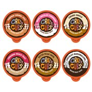Crazy Cups Flavored Hot or Iced Coffee, for the Keurig K Cups Coffee 2.0 Brewers, Holiday Variety Pack, 24 Count