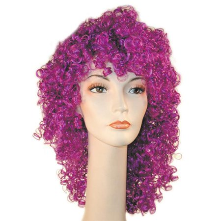 Morris Costumes LW120GR Clown Disco Wavy Green Kaf4 Wig Costume - Green Clown Wig