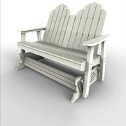 Double Glider by Malibu Outdoor - Yarmouth, White