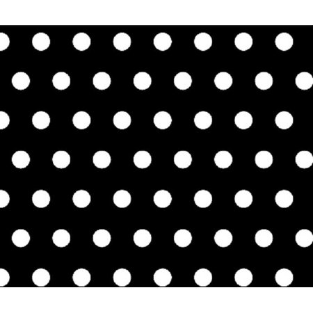 Sheetworld Fitted Pack N Play  Graco  Sheet   Polka Dots Black