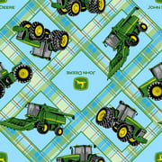Springs Creative John Deere Plaid On Patch Fabric by the Yard