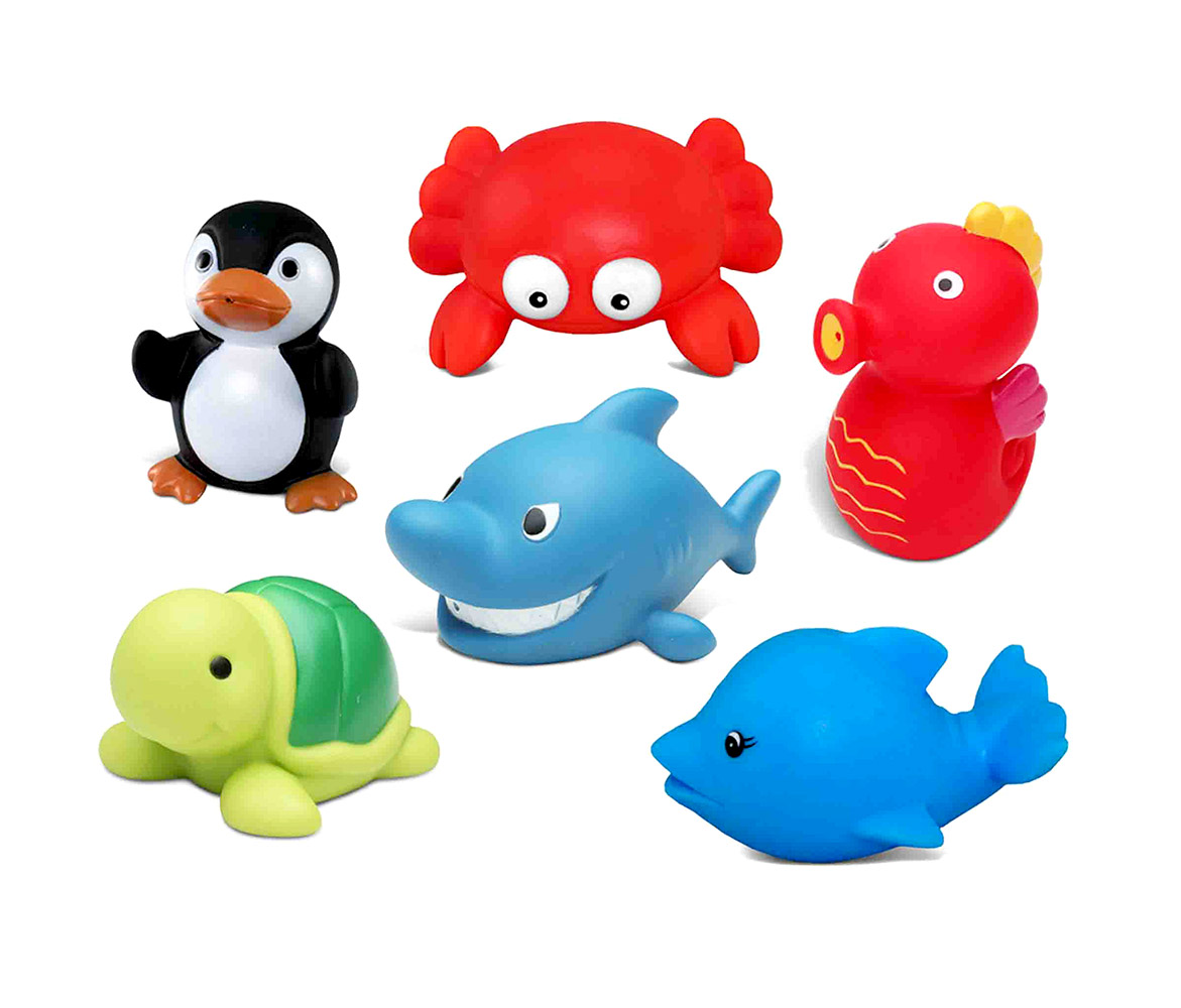Toddler Bathtime Learning Toy Dollibu Bath Buddies Ocean Critters Rubber Squirter Toys... by Puzzled Inc