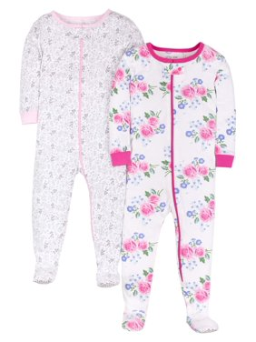 46da9e6fd White Baby Girls One-piece Pajamas - Walmart.com