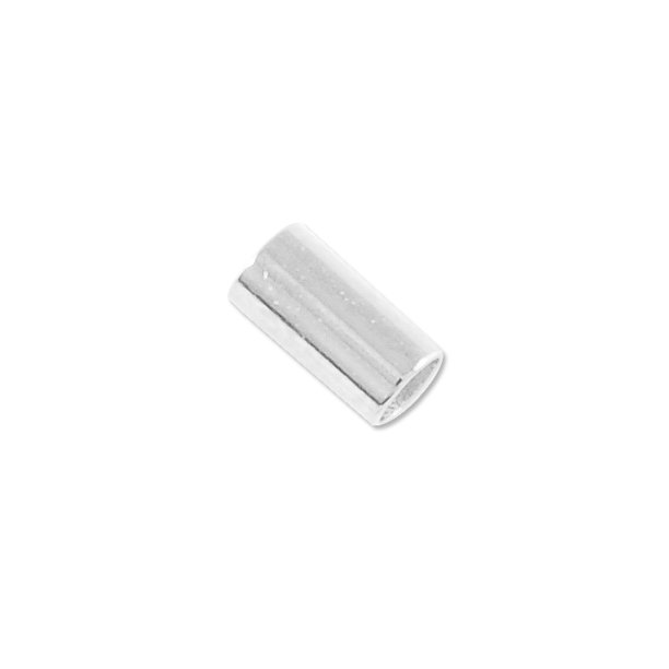 Stretch Cord Crimp Tubes 6mm Silver Plated Package Of 40