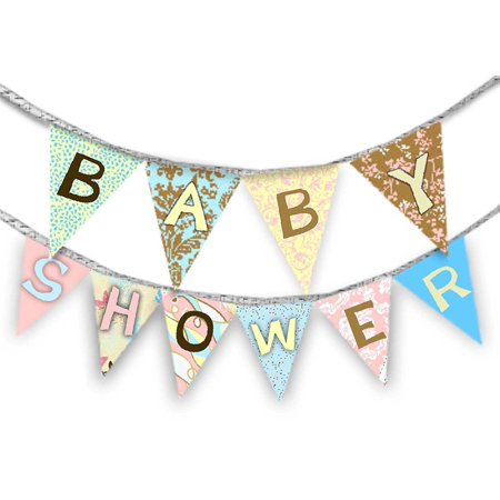 Daisy Kingdom Easy Cut and Sew Celebrate Banner Kit, Baby Shower By Springs Creative -