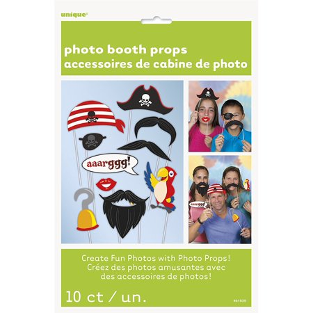 Pirate Photo Booth Props, 10pc By Unique Ship from US (Halloween Pirate Ship Props)