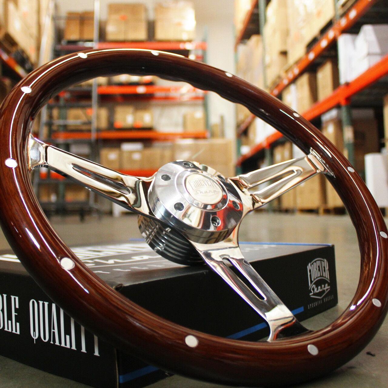 "1974-1994 Chevy pickup steering wheel 15/"" DARK MAHOGANY WOOD"