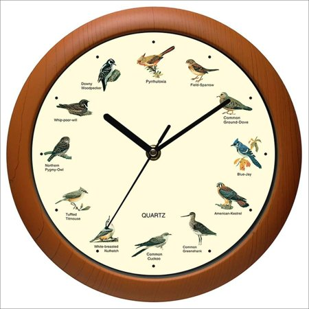 Benail Singing Bird Wall Clock 12 Inch of The Bird Names and Songs New 12 inch