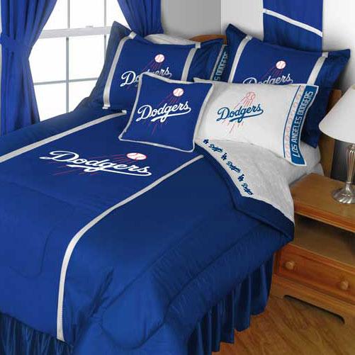 MLB Los Angeles Dodgers Comforter Pillowcase Baseball Bed...
