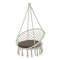 Better Homes & Gardens Harlow White Tassel Rope Hammock Swing Chair