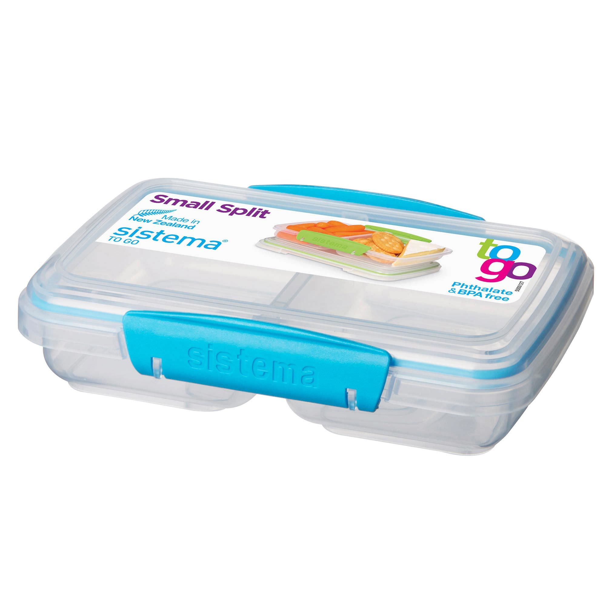 Sistema Small Split To Go Divided Snack Container - Walmart.com