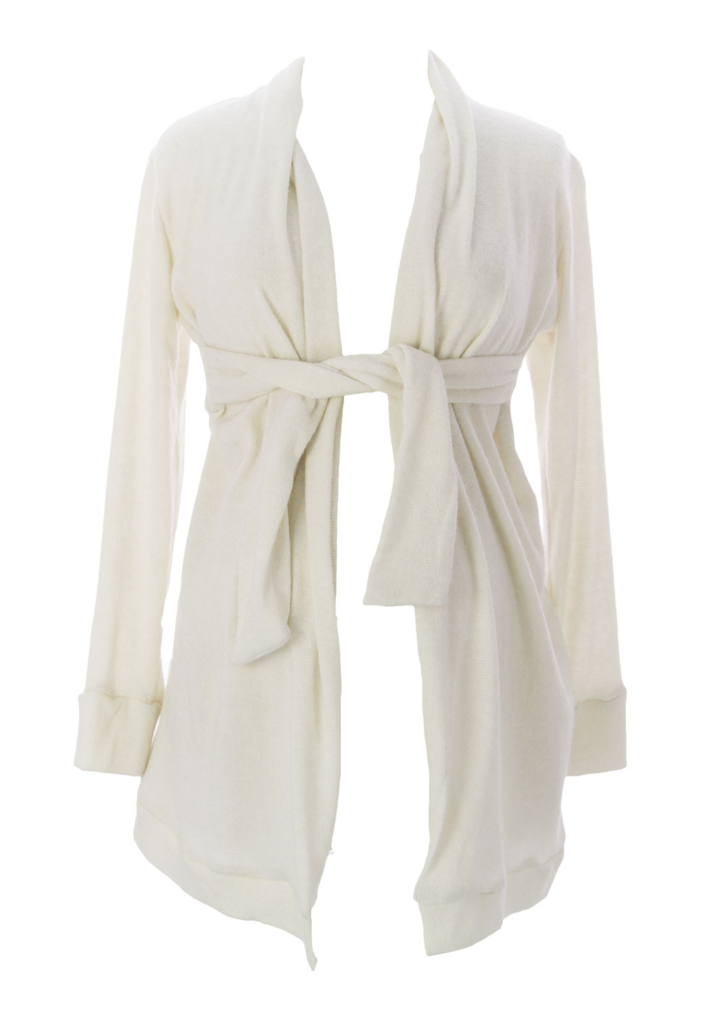 JULES & JIM Maternity Women's Belted Cardigan, Medium, Off-White