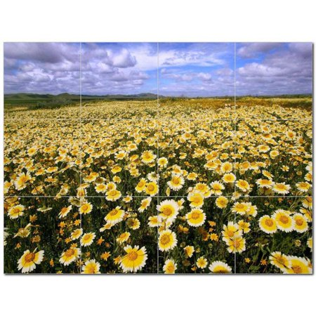 Flower Photo Ceramic Tile Mural Kitchen Backsplash Bathroom Shower 404