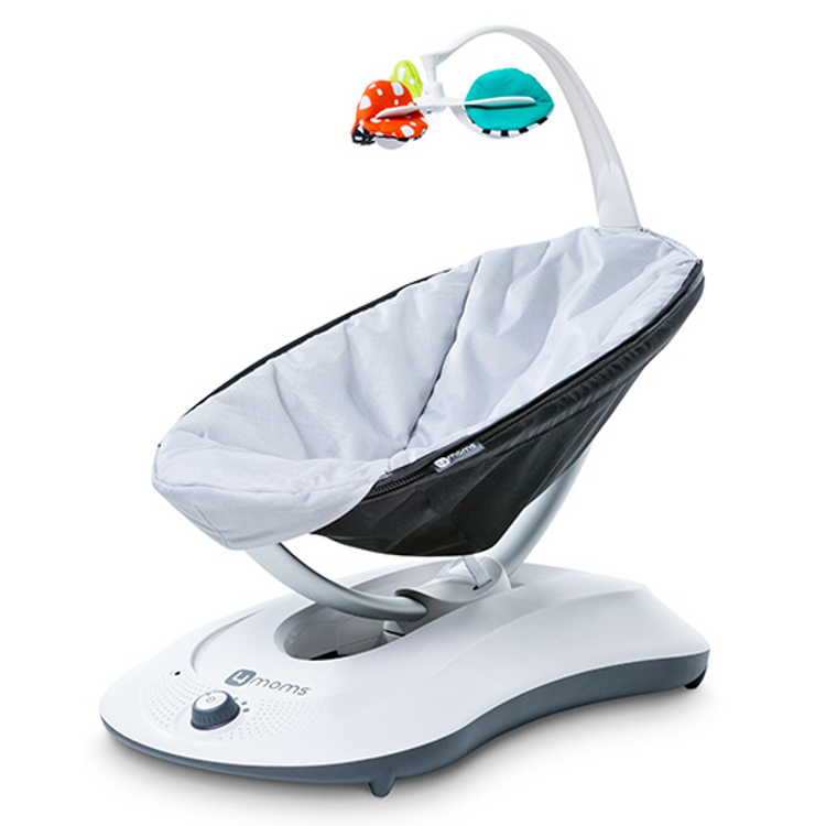 4moms rockaRoo Compact Baby Swing, Classic Grey by 4moms